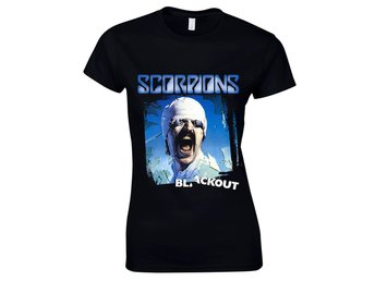 Scorpions - Blackout Girlie t-shirt Medium