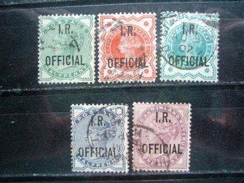 "ENGLAND 94. VICTORIA "" IR OFFICIAL "" BRA 5 ST * SERIE ÅR 1882...TITTA! - Kokkola - ENGLAND 94. VICTORIA "" IR OFFICIAL "" BRA 5 ST * SERIE ÅR 1882...TITTA! - Kokkola"