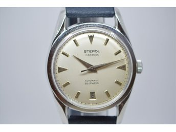 SUPER FIN VINTAGE UR STEPOL INCABLOC ,AUTOMATIC 25 JEWELS