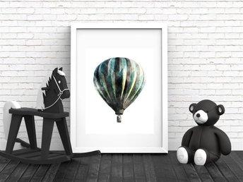 A4 Poster Print Luftballong, Fin Julklapp. barninredning, barntavla. - Asmundtorp - A4 Poster Print Luftballong, Fin Julklapp. barninredning, barntavla. - Asmundtorp