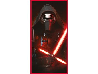 Badlakan Badhandduk Handduk - 140x70 cm - Disney Star Wars - Red Laser 2