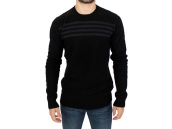 Costume National - Black striped crewneck sweater