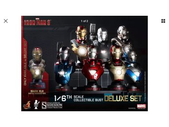 Iron Man 3 Delux 1/6 bust hot toys - Sideshow