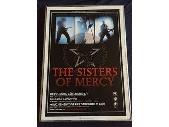 SISTERS OF MERCY Supersnygg och ovanlig TURNÉposter!! 50x70cm! - Lerum - SISTERS OF MERCY Supersnygg och ovanlig TURNÉposter!! 50x70cm! - Lerum