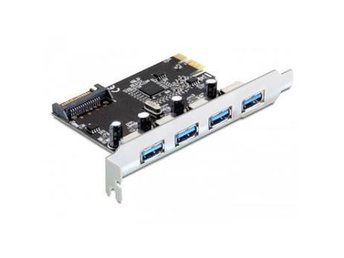 IO DeLOCK PCIe, 4 x USB3.0 Typ A, SATA-power