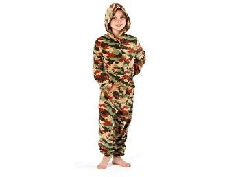 Childrens Fleece All In Jumpsuit Hooded Pajamas Pajama