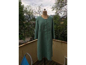 K&US Stockholm Carro grön 100% lin klänning sto.. (408416714