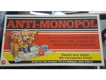 ANTI-MONOPOL (ALGA) MYCKET FINT SKICK, SAKNAS ENDAST SPELPJÄSER - Luleå - ANTI-MONOPOL (ALGA) MYCKET FINT SKICK, SAKNAS ENDAST SPELPJÄSER - Luleå