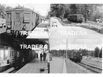 Saltsjöbanan 1976, 12 st svart-vita fotografier, serie 8 - Danderyd - Saltsjöbanan 1976, 12 st svart-vita fotografier, serie 8 - Danderyd
