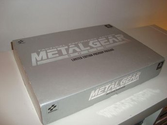 Metal Gear Solid - Premium Package - PAL - mkt fint skick - R A R E