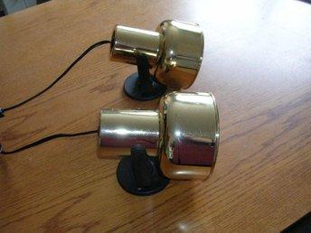 Vägglampor Vita : Vägglampor vit guldfärgad skick normalt på tradera