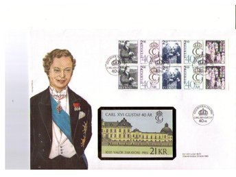 Philswiss häftes-FDC svensk text Carl XVI Gustaf 1986-04-23 - ängelholm - Philswiss häftes-FDC svensk text Carl XVI Gustaf 1986-04-23 - ängelholm
