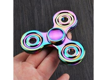 Hand Spinner Fidget Finger Toy Fingertip Gyro Focus ADHD Anti Stress-Rai'n'bow