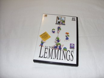 Lemmings Psygnosis PC CD ROM spel Engelsk version Windows