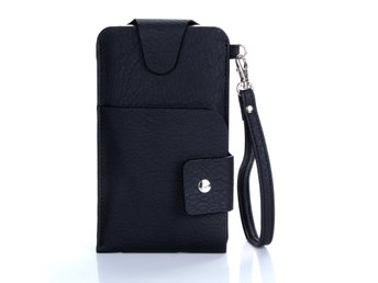 Universal mobilväska - Uniwallet - Leather Black