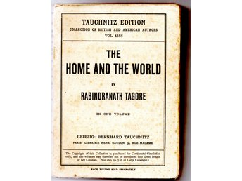 Nobelpristagaren 1913 Rabindranath Tagore, The Home and the World roman se beskr