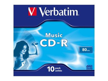VERBATIM CD-R Skiva Audio 10-pack 80 min Cake Box