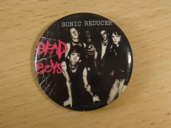 DEAD BOYS - STOR Button-Badge/ Pin/ Knapp (Punk, Stiv Bators CBGB, Ramones,)