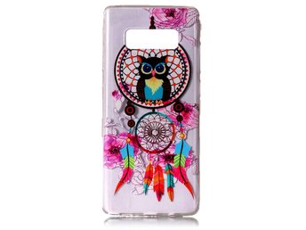 Skal till Samsung Galaxy Note 8 Owl and Dream Catcher Glitter Skydd Tunn TPU