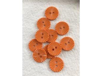 11 styck små orange knappar - Linköping - 11 styck små orange knappar - Linköping