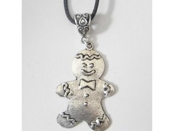 Pepparkaksgubbe halsband / Gingerbread man necklace