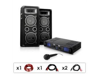 """DJ PA Set """"DJ-25"""" förstärkare, högtalare, mikrofon, 1600W - Berlin - DJ PA Set """"DJ-25"""" förstärkare, högtalare, mikrofon, 1600W - Berlin"""