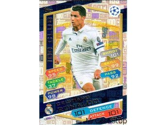 2016-17 Topps Champions League 100C10 Cristiano Ronaldo Real Madrid CF 100 Club - Linghem - 2016-17 Topps Champions League 100C10 Cristiano Ronaldo Real Madrid CF 100 Club - Linghem