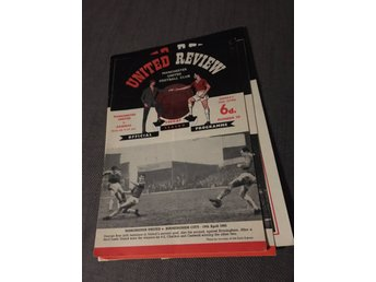 FOTBOLL Program Manchester United FC v Arsenal FC 26/4 1965 George Best