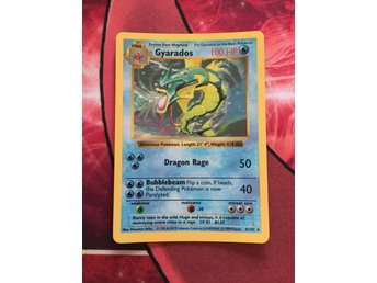 SHADOWLESS GYARADOS HOLO BASE SET POKEMONKORT POKEMON KORT