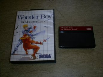 WONDER BOY IN MONSTER LAND,,SEGA MASTER SYSTEM SPEL,FUNGERAR FINT