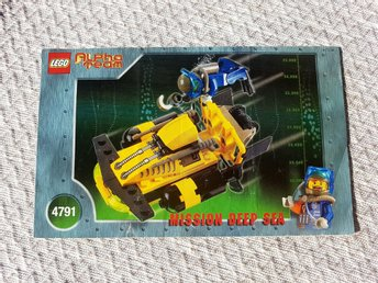 Lego 4791 Alpha Team Mission Deep Sea Instruktions bok.