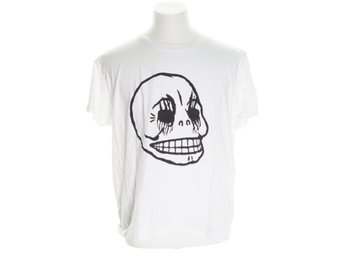 Cheap Monday, T-shirt, Strl: XL, Svart/Vit