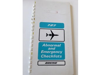 BOEINGS ABNORMAL AND EMERGENCY  checklist B727-100