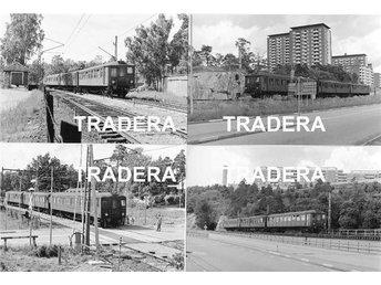 Saltsjöbanan 1976, 12 st svart-vita fotografier, serie 6 - Danderyd - Saltsjöbanan 1976, 12 st svart-vita fotografier, serie 6 - Danderyd