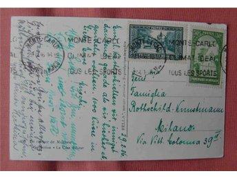 Monaco vykort 1936 till Italien trevlig frankering - Stockholm - Monaco vykort 1936 till Italien trevlig frankering - Stockholm