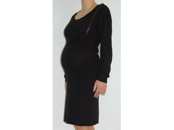 Mamalicious short maternity dress, Black, Size S