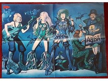 ABBA- RARE POSTER FROM SUPER POSTER MAGAZINE GERMANY 1975 SIZE 60 X 40 CM
