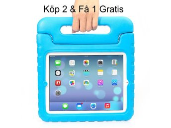 iPad Air 2/iPad 6  - Kids Shockproof Stand Case Cover/Kids Friendly Case - Blå