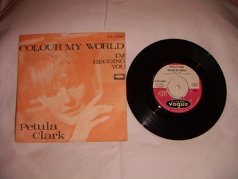 vinyl 45 rpm Petula Clark - colour my world + 1