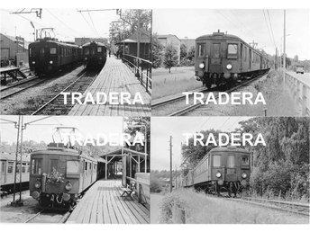 Saltsjöbanan 1976, 12 st svart-vita fotografier, serie 7 - Danderyd - Saltsjöbanan 1976, 12 st svart-vita fotografier, serie 7 - Danderyd