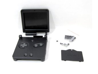 GBA SP nytt skal - svart - Game Boy Advance