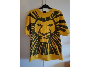 Oversize Lejonkungen tshirt, The Lion King Broadway musikalen, Disney, 90-tal