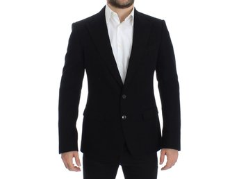 Dolce & Gabbana - Black cotton SICILIA slim fit blazer