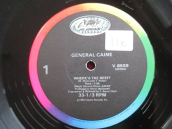 "12"" maxi: GENERAL CAINE Where´s the Beef? (USA 1984) Electro/Funk!"