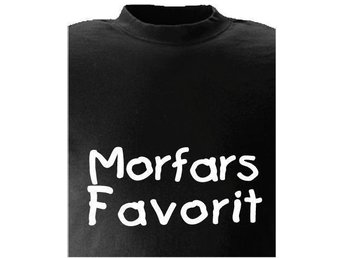 T-SHIRT Morfars Favorit Favorit nr 209  120cl  Svart
