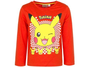 Pokemon Pikachu Långärmad Tröja/T-shirt STL 4ÅR ORANGE/RED