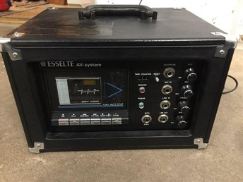 Esselte AV-system, PA & cassette tape recorder/ player