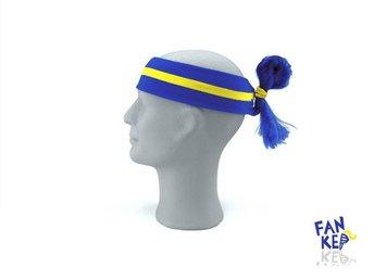 pannband i gult och blått, Fankeps, one size, frotté, blå hårtofs - Bocholt - pannband i gult och blått, Fankeps, one size, frotté, blå hårtofs - Bocholt