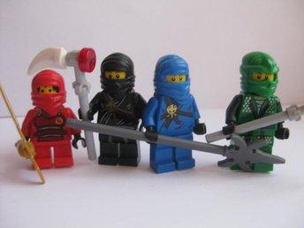 Lego Figurer Figur - 4st Ninjago blandade Figurer - LF5 U - Uddevalla - Lego Figurer Figur - 4st Ninjago blandade Figurer - LF5 U - Uddevalla