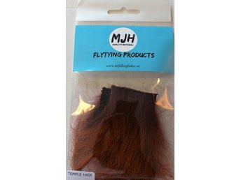Flugfiske Flugbindning Temple Hair Brown